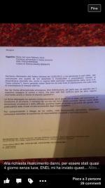 """Enel sulla richiesta di rimborso : """"non abbiamo nessuna responsabilità"""""""