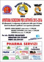 """""""Basket Loiano 2015"""": aperte le iscrizioni per l'attività 2015-2016"""
