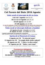 """""""Col Favore del Buio 2016 Agosto"""", gli appuntamenti  al Planetario di Loiano"""