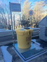 Installato il contenitore per la raccolta di olio vegetale