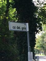 Forte dissesto stradale in via Cà Del Goia
