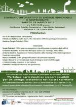 Seminario informativo  su energie rinnovabili, risparmio energetico e sostenibilità