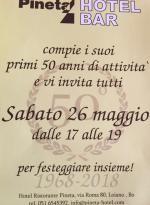 Sabato 26 maggio l'Hotel Pineta festeggia 50 anni di attività