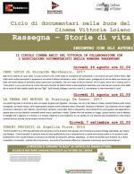 """""""Storie di vita"""", da giovedì 24 agosto ciclo di documentari nella buca del Cinema Vittoria di Loiano"""