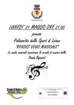 """Lunedì 21 maggio """"Rendez-vous musicale"""", le medie musicali incontrano la scuola di musica della Banda Bignardi"""