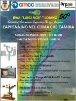 """Sabato 24 febbraio """"L'Appennino nel clima che cambia"""", convegno dell' IPAA 'L. Noè' di Loiano"""