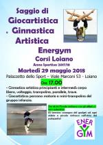 Martedì 29 maggio, Saggio di Giocartistica e Ginnastica Artistica di Energym