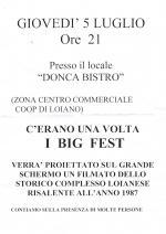 """Giovedì 5 luglio """"C'erano una volta i Big Fest"""" al Dònca di Loiano"""