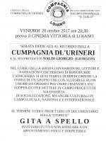 "Venerdì 20 ottobre serata ricordo della ""Cumpagnia dl' Urineri"""