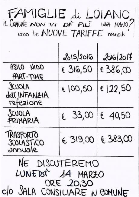 Lunedì 14 marzo cittadini ed Amministrazione si confrontano sugli aumenti delle tariffe