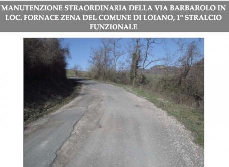"""Approvato il progetto per """"Interventi di manutenzione straordinaria in via Barbarolo, località Fornace Zena"""""""