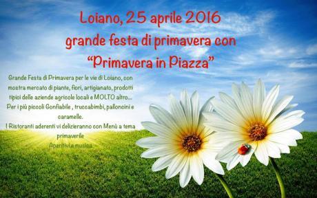 Lunedì 25 aprile, grande festa di primavera con la 'Primavera in piazza'