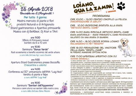 Il programma della 'Festa di Primavera' del 25 aprile