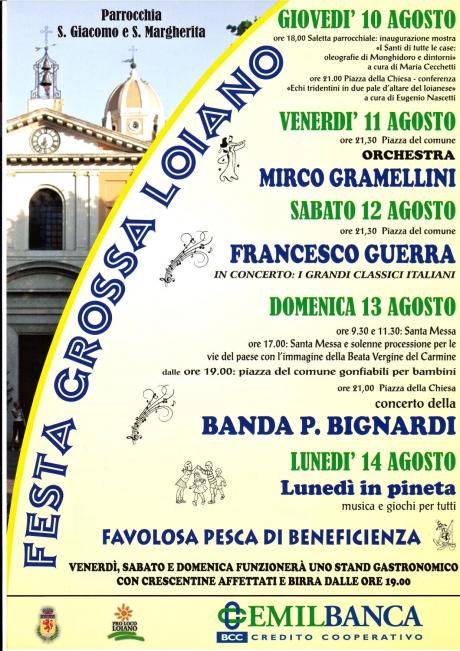 Da giovedì 10 a lunedì 14 agosto 'Festa Grossa a Loiano'