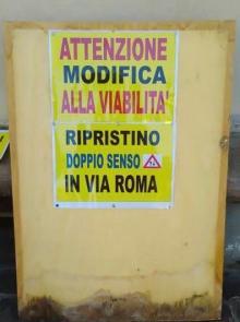 Da oggi ripristinato il doppio senso di circolazione in via Roma