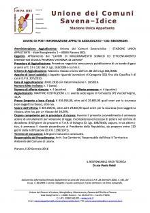 Aggiudicati alla Martino Costruzioni di Pisa i lavori di miglioramento sismico della scuola elementare