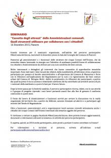 """BeniComunInUnione: """"cassetta degli attrezzi"""" delle Amministrazioni comunali"""