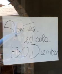 Dal 30 dicembre l'edicola si trasferisce in via Roma 14/8