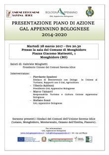 Martedì 28 marzo a Monghidoro, presentazione del Piano di Azione GAL Appennino Bolognese 2014-2020