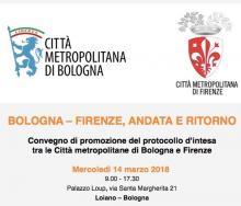 """Mercoledì 14 marzo 2018""""Bologna-Firenze andata e ritorno"""" a Palazzo Loup di Loiano"""