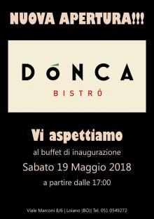 Sabato 19 Maggio inaugurazione di 'Dónca', il nuovo bistròt a Loiano