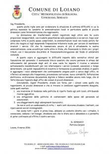 Il Sindaco di Monzuno Marco Mastacchi sfida Renzi