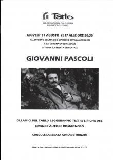 Giovedì 17 agosto serata dedicata a Giovanni Pascoli alla Villa Carducci a Loiano