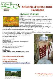 """Il """"Solstizio d'estate"""" quest'anno si trasferisce dal Farnè alla Sardegna"""