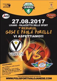 Domenica 27 agosto amichevole Virtus vs Kleb Basket. Ingresso  € 8,00  per gli adulti e € 5,00 per gli under 16