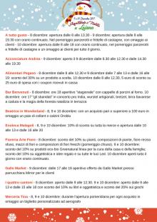 Nel week end dell'8 dicembre tante proposte dai commercianti di Loiano